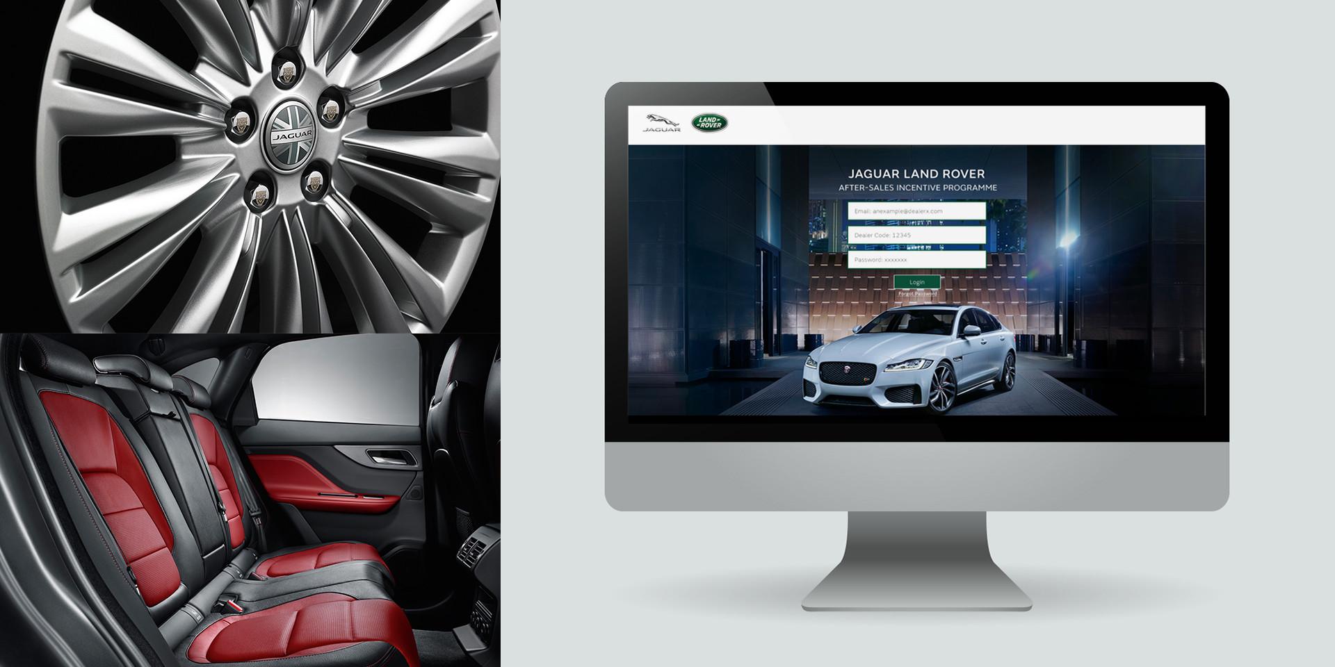 jaguar land rover mockup desktop after sales