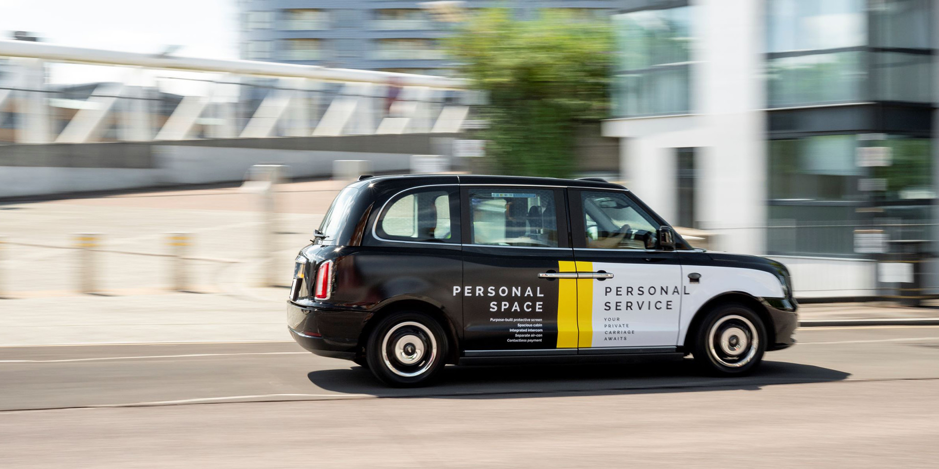 London electric black cab ad space