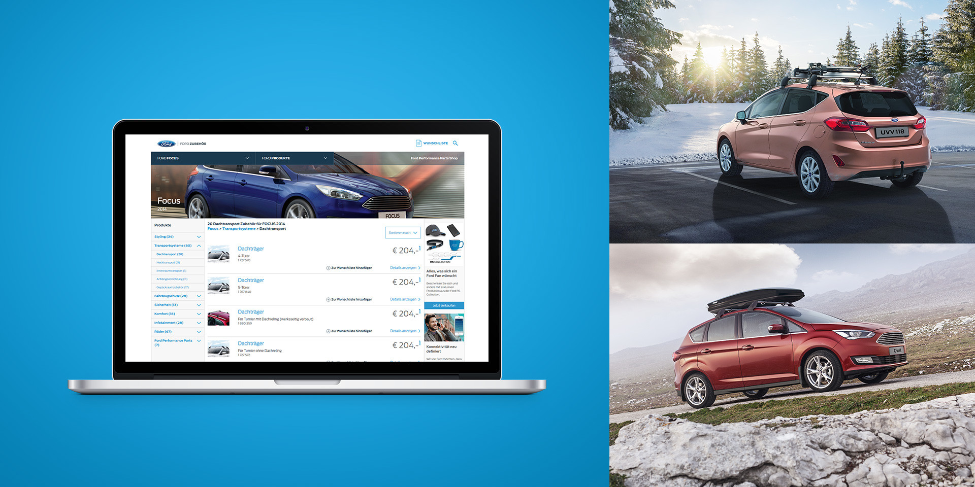 Ford Europe – Online Accessory Catalogue – Platform