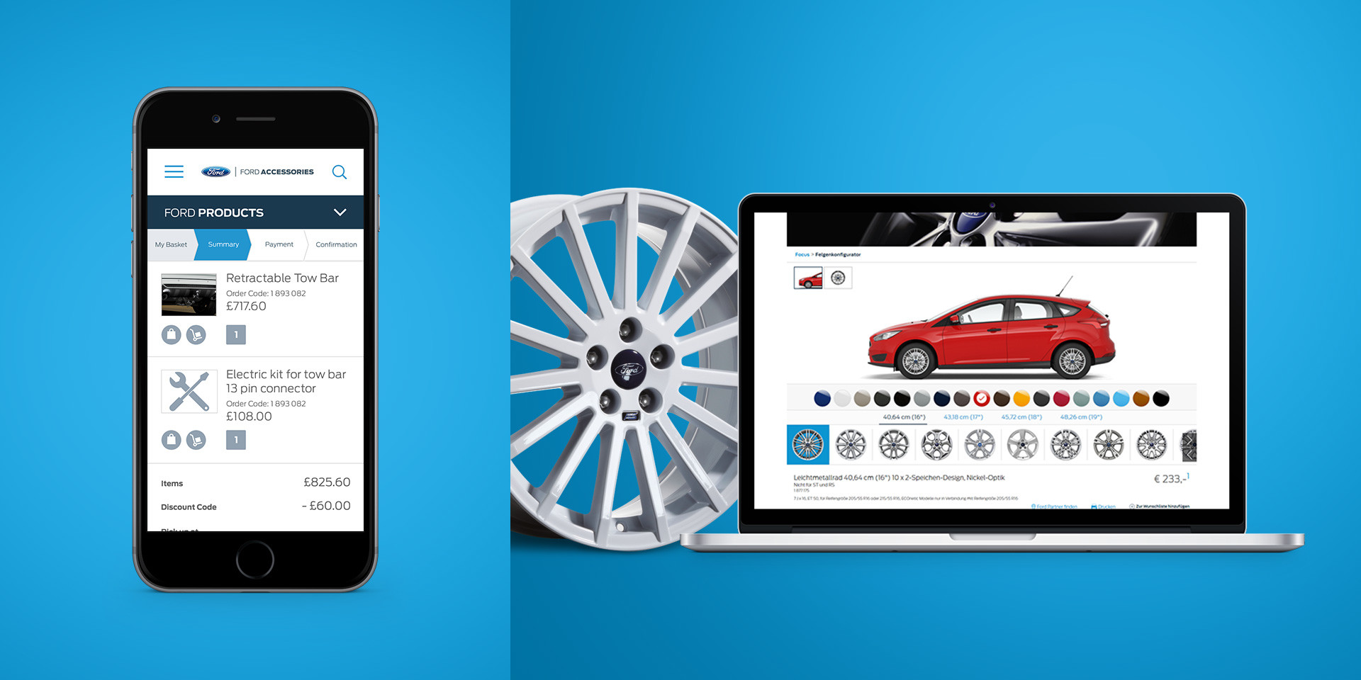Ford Europe – Online Accessory Catalogue – Configurator and checkout