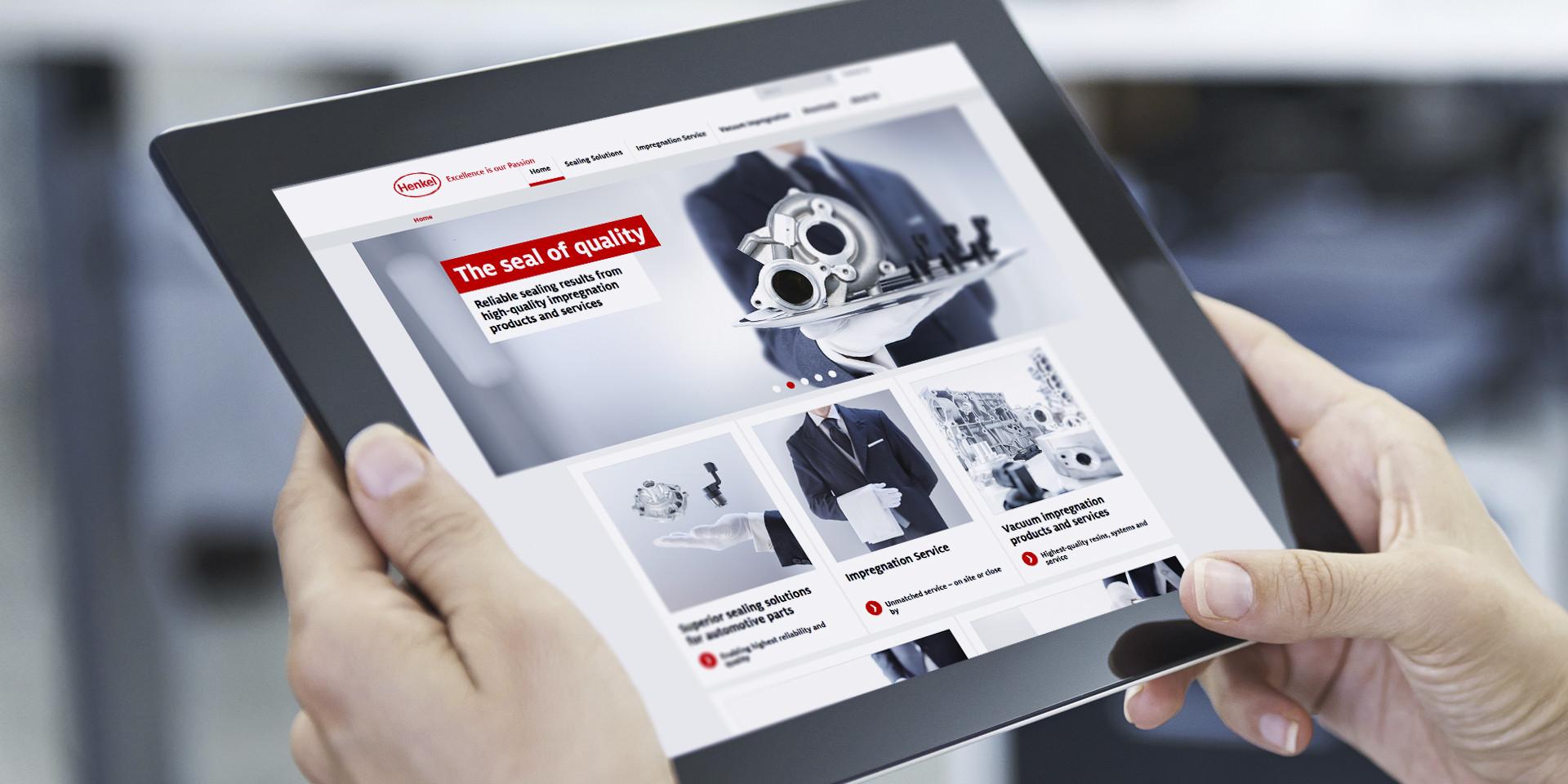 Henkel – Loctite Impregnation Solution ipad mockups – Website Tablet